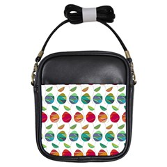 Watercolor Floral Roses Pattern Girls Sling Bags