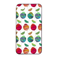 Watercolor Floral Roses Pattern Apple iPhone 4/4s Seamless Case (Black)