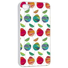 Watercolor Floral Roses Pattern Apple iPhone 4/4s Seamless Case (White)
