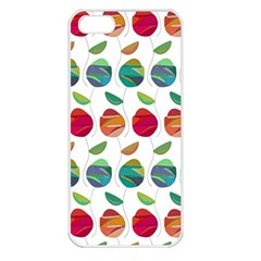 Watercolor Floral Roses Pattern Apple iPhone 5 Seamless Case (White)