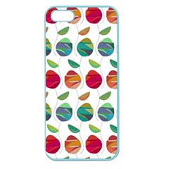 Watercolor Floral Roses Pattern Apple Seamless iPhone 5 Case (Color)