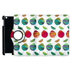 Watercolor Floral Roses Pattern Apple iPad 3/4 Flip 360 Case
