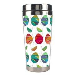 Watercolor Floral Roses Pattern Stainless Steel Travel Tumblers