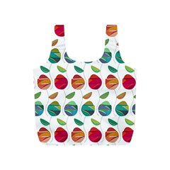 Watercolor Floral Roses Pattern Full Print Recycle Bags (S)