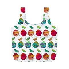 Watercolor Floral Roses Pattern Full Print Recycle Bags (M)