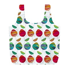 Watercolor Floral Roses Pattern Full Print Recycle Bags (L)