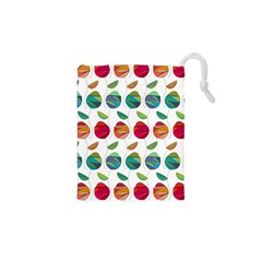 Watercolor Floral Roses Pattern Drawstring Pouches (XS)