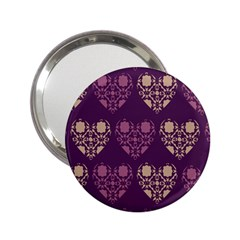 Purple Hearts Seamless Pattern 2 25  Handbag Mirrors by Nexatart
