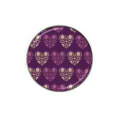 Purple Hearts Seamless Pattern Hat Clip Ball Marker (4 Pack) by Nexatart