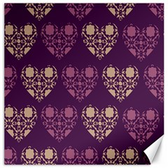 Purple Hearts Seamless Pattern Canvas 12  X 12   by Nexatart
