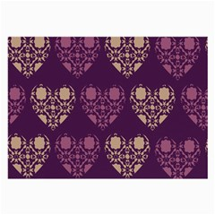 Purple Hearts Seamless Pattern Large Glasses Cloth (2 Side)