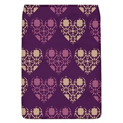 Purple Hearts Seamless Pattern Flap Covers (l)