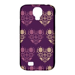 Purple Hearts Seamless Pattern Samsung Galaxy S4 Classic Hardshell Case (pc+silicone) by Nexatart