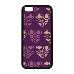 Purple Hearts Seamless Pattern Apple Iphone 5c Seamless Case (black)