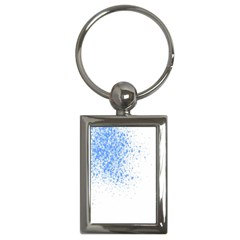 Blue Paint Splats Key Chains (rectangle)