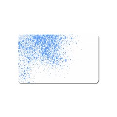 Blue Paint Splats Magnet (name Card) by Nexatart