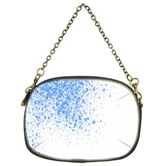 Blue Paint Splats Chain Purses (one Side)