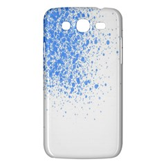 Blue Paint Splats Samsung Galaxy Mega 5 8 I9152 Hardshell Case