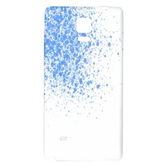 Blue Paint Splats Galaxy Note 4 Back Case