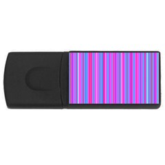 Blue And Pink Stripes Usb Flash Drive Rectangular (4 Gb) by Nexatart