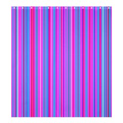 Blue And Pink Stripes Shower Curtain 66  X 72  (large)