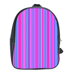 Blue And Pink Stripes School Bags (xl)  by Nexatart