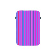 Blue And Pink Stripes Apple Ipad Mini Protective Soft Cases by Nexatart