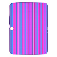 Blue And Pink Stripes Samsung Galaxy Tab 3 (10 1 ) P5200 Hardshell Case