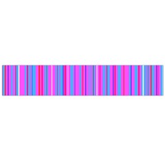 Blue And Pink Stripes Flano Scarf (large)