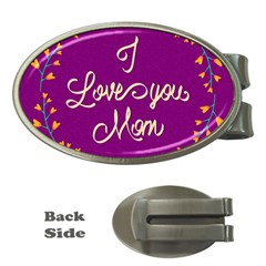 Happy Mothers Day Celebration I Love You Mom Money Clips (oval)  by Nexatart
