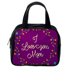 Happy Mothers Day Celebration I Love You Mom Classic Handbags (one Side)