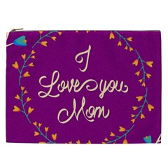 Happy Mothers Day Celebration I Love You Mom Cosmetic Bag (xxl)  by Nexatart