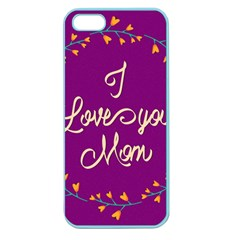 Happy Mothers Day Celebration I Love You Mom Apple Seamless Iphone 5 Case (color) by Nexatart