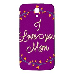 Happy Mothers Day Celebration I Love You Mom Samsung Galaxy Mega I9200 Hardshell Back Case by Nexatart
