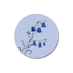 Floral Blue Bluebell Flowers Watercolor Painting Magnet 3  (round) by Nexatart
