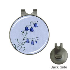 Floral Blue Bluebell Flowers Watercolor Painting Hat Clips With Golf Markers by Nexatart