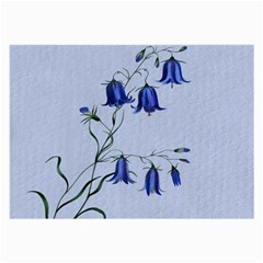 Floral Blue Bluebell Flowers Watercolor Painting Large Glasses Cloth (2-side) by Nexatart