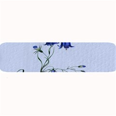 Floral Blue Bluebell Flowers Watercolor Painting Large Bar Mats by Nexatart