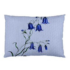 Floral Blue Bluebell Flowers Watercolor Painting Pillow Case
