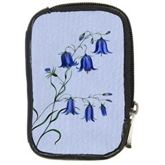 Floral Blue Bluebell Flowers Watercolor Painting Compact Camera Cases by Nexatart
