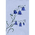 Floral Blue Bluebell Flowers Watercolor Painting 5.5  x 8.5  Notebooks Back Cover Inside