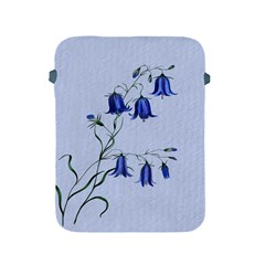Floral Blue Bluebell Flowers Watercolor Painting Apple Ipad 2/3/4 Protective Soft Cases by Nexatart