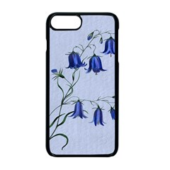 Floral Blue Bluebell Flowers Watercolor Painting Apple Iphone 7 Plus Seamless Case (black) by Nexatart