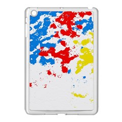 Paint Splatter Digitally Created Blue Red And Yellow Splattering Of Paint On A White Background Apple Ipad Mini Case (white)