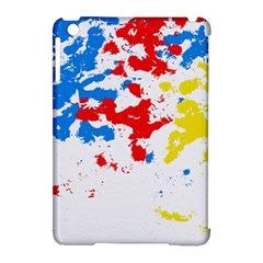 Paint Splatter Digitally Created Blue Red And Yellow Splattering Of Paint On A White Background Apple Ipad Mini Hardshell Case (compatible With Smart Cover)