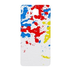 Paint Splatter Digitally Created Blue Red And Yellow Splattering Of Paint On A White Background Samsung Galaxy Alpha Hardshell Back Case by Nexatart
