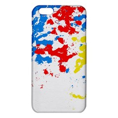 Paint Splatter Digitally Created Blue Red And Yellow Splattering Of Paint On A White Background Iphone 6 Plus/6s Plus Tpu Case by Nexatart
