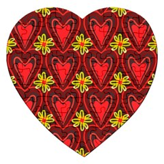 Digitally Created Seamless Love Heart Pattern Jigsaw Puzzle (heart) by Nexatart