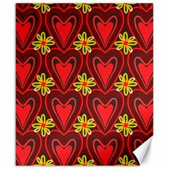 Digitally Created Seamless Love Heart Pattern Canvas 20  X 24   by Nexatart