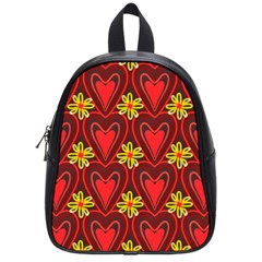 Digitally Created Seamless Love Heart Pattern School Bags (small)